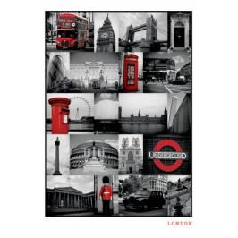 Londyn Red Collage - plakat